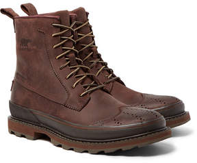 Sorel Madson Waterproof Leather Wingtip Brogue Boots