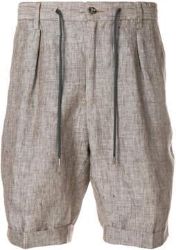Barba drawstring tailored shorts
