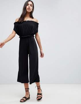 Black Bardot Jumpsuit
