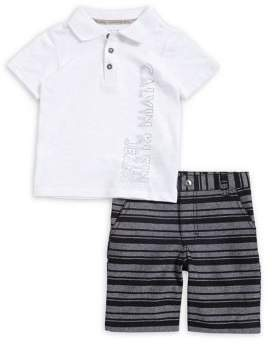 Calvin Klein Jeans Baby Boy's Two-Piece Polo and Cotton Shorts Set