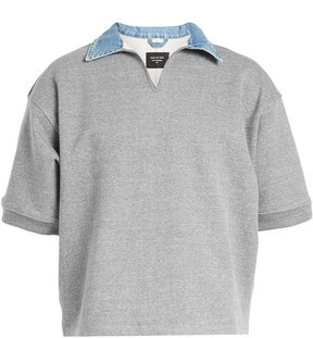 Fear Of God Denim Collar Sweatshirt with Cotton