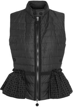 Moncler Valensole Broderie Anglaise-trimmed Quilted Cotton Down Gilet - Black