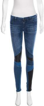 Blank NYC Patchwork Low-Rise Skinny Jeans