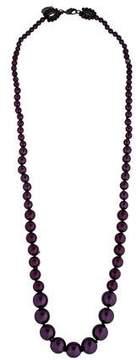 Erickson Beamon Purple Pearl Necklace