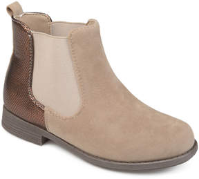 Journee Collection Beige Sawyer Ankle Boot