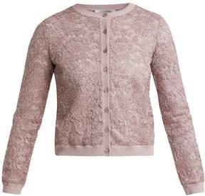 Valentino Round-neck lace cardigan