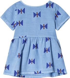 Bobo Choses Heritage Blue Clouds Tee-Dress