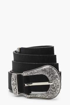 boohoo Velvet Western Boyfriend Belt