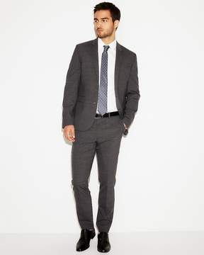 Express Extra Slim Check Stretch Wool-Blend Suit Pant