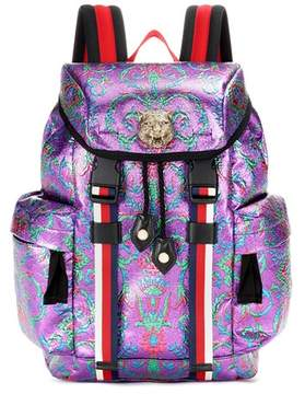 Gucci Brocade backpack - PURPLE - STYLE