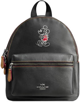 Disney Mickey Mouse Mini Charlie Leather Backpack by COACH