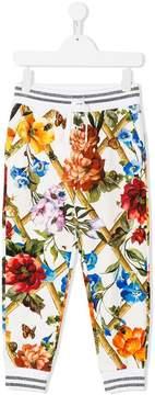 Dolce & Gabbana drawstring floral print trousers