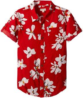 Appaman Kids All Over Tropical Flower Button Up Shirt Boy's Clothing
