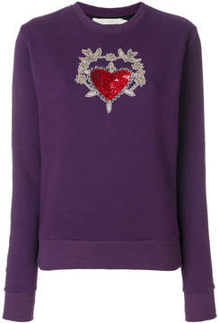 Amen sequin embellished embroidered sweater