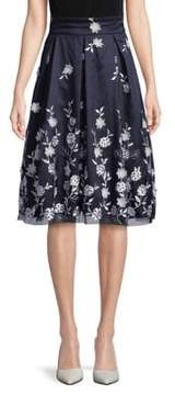 Eliza J Floral Illusion Midi Skirt