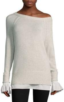 Brochu Walker Flores Layered Melange Sweater