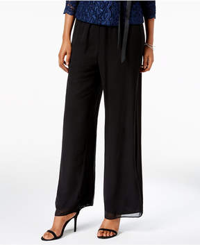 Alex Evenings Petite Chiffon Palazzo Pants