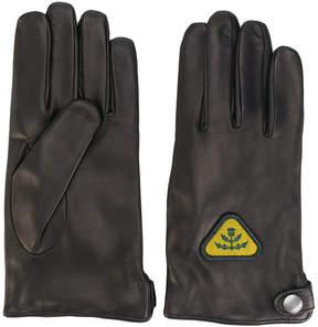 Diesel patch detail gloves