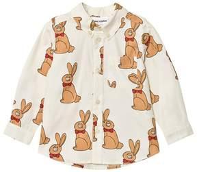 Mini Rodini Off-White Rabbit Woven Shirt
