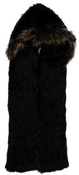 Adrienne Landau Fur Hooded Scarf