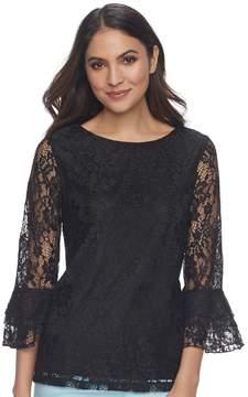 Elle Women's Lace Bell-Sleeve Top