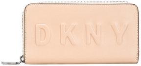 DKNY debossed logo zip-around wallet