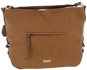 Jessica Simpson Womens Roxanne Faux Leather Logo Hobo Handbag
