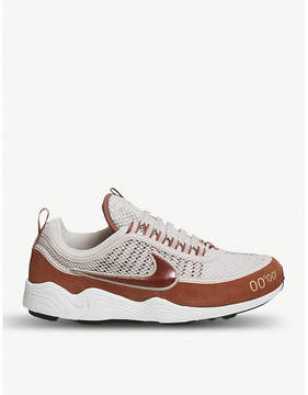 Nike Zoom Spiridon textile and leather trainers