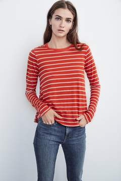 Velvet by Graham & Spencer STEPH MODAL KNIT STRIPE SWING TEE