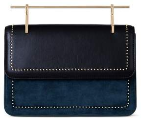M2Malletier La Fleur de Mal Leather & Velvet Shoulder Bag