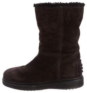 Car Shoe Suede Shearling Ankle Boots