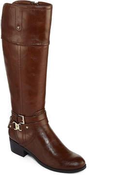 Liz Claiborne Tory Womens Riding Boot Wide Calf