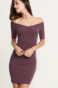 Dynamite Knit Bodycon Dress with Ballerina Neckline