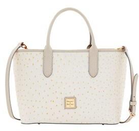 Dooney & Bourke Ostrich Brielle Top Handle Bag. - BONE LIGHT GREY - STYLE