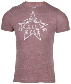 Converse Men's Outline Americana All Star T-Shirt-Heather Brown-XL