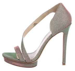 Brian Atwood Consort Metallic Sandals