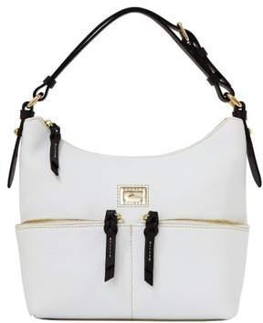 Dooney & Bourke Dillen Small Zipper Pocket Sac Shoulder Bag - WHITE BLACK - STYLE