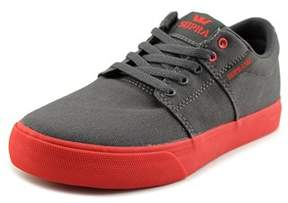 Supra Stacks Vulc Ii Youth Round Toe Canvas Gray Sneakers.
