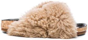 Chloé Kerenn Shearling Fur Sandals