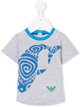 Emporio Armani Kids whale print T-shirt