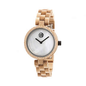Earth Wood Unisex Brown Bracelet Watch-Ethew5601
