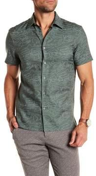 Perry Ellis Shirt Sleeve Map Print