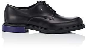 Fendi Men's Contrast-Heel Leather Bluchers