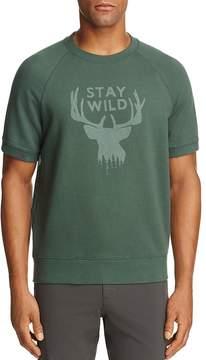 Michael Bastian Stay Wild Short Sleeve Sweatshirt