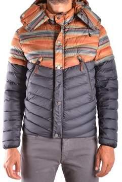 Diadora Heritage Men's Orange/black Polyamide Down Jacket.
