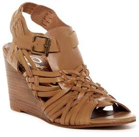 Naughty Monkey Dually Noted Woven Leather Wedge Sandal