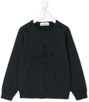 Stone Island Junior logo embroidered sweatshirt