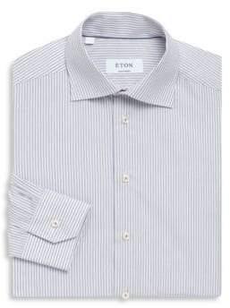 Eton Stripe Print Contemporary-Fit Cotton Dress Shirt