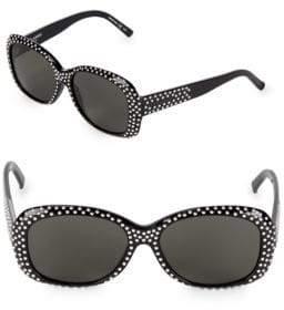 Saint Laurent Stud 57MM Oval Sunglasses