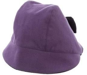 Oscar de la Renta Girls' Wool Bow-Accented Hat